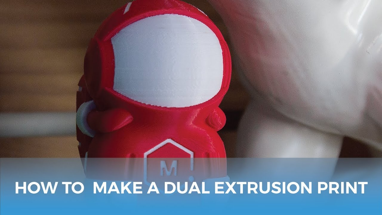 How To Make A Dual Extrusion 3D Print // 3D Printing Tutorial