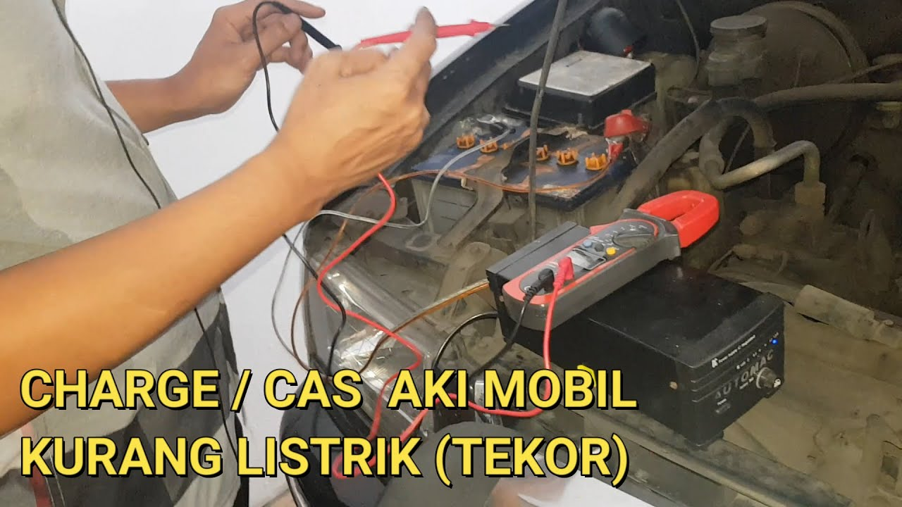 Cara Charge / Cas Aki Mobil Tekor - YouTube