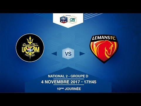 National 2, Groupe D - 10e journée : US Saint Malo - Le Mans FC - Samedi 04/11/2017 à 17h45 -