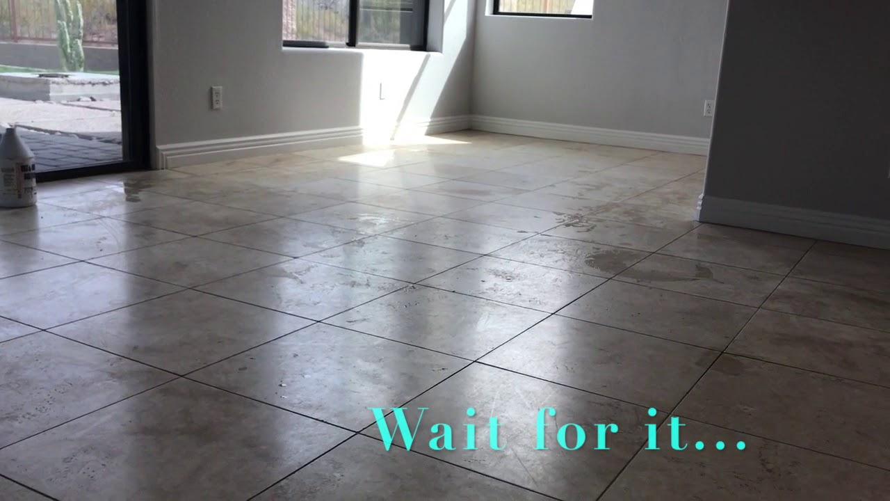 Semi gloss finish on travertine tile flooring with tile girl youtube semi gloss finish on travertine tile flooring with tile girl dailygadgetfo Image collections