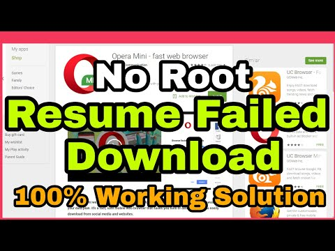 Resume Failed Download Android