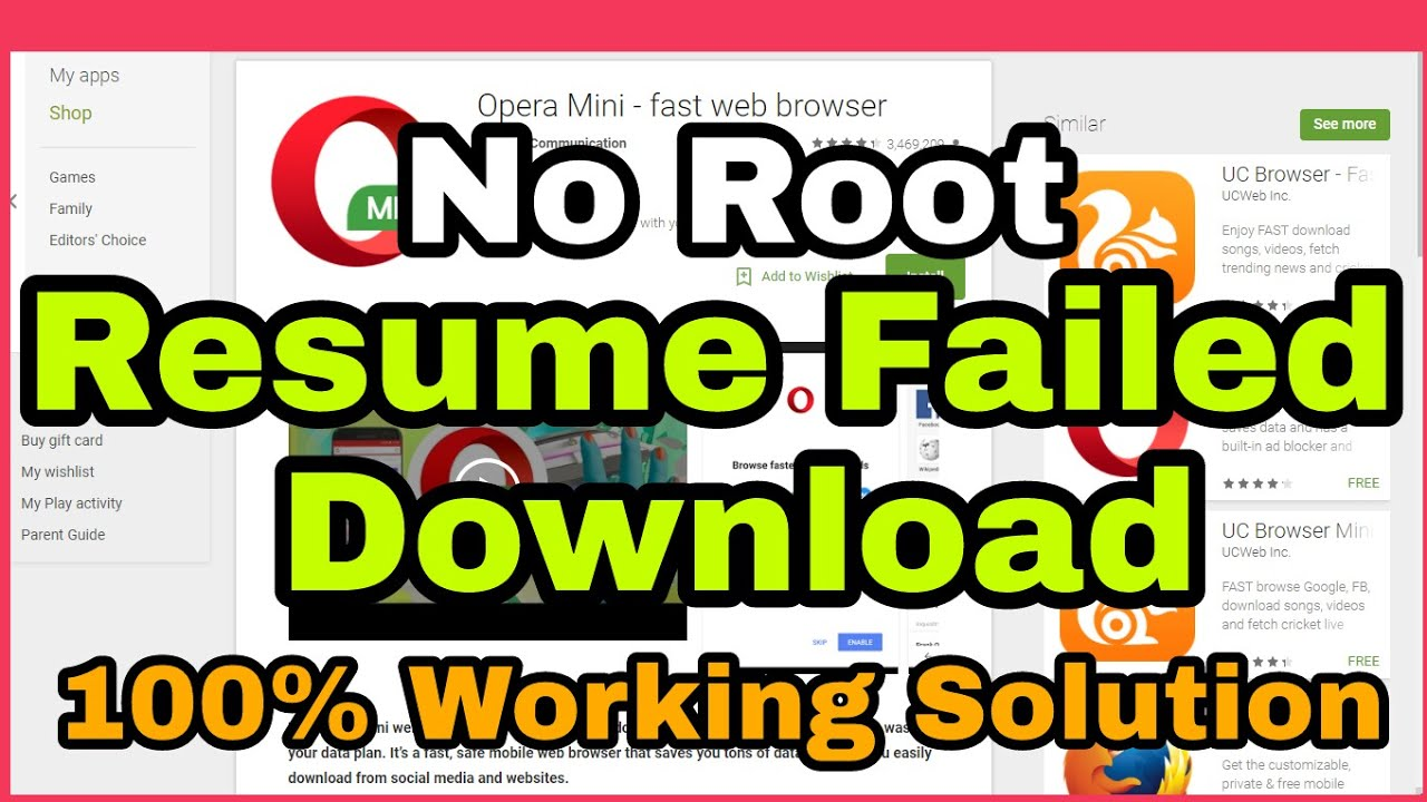 Resume Failed Download Android Youtube