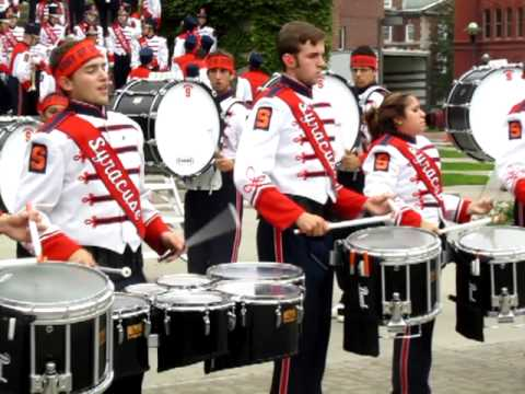 sumb syracuse marching band drumline show cadence youtube. Black Bedroom Furniture Sets. Home Design Ideas