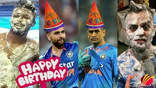 Cricketers Funny Birthday Celebration ||MS Dhoni,Virat Kohli, Rohit Sharma, Hardik Pandya
