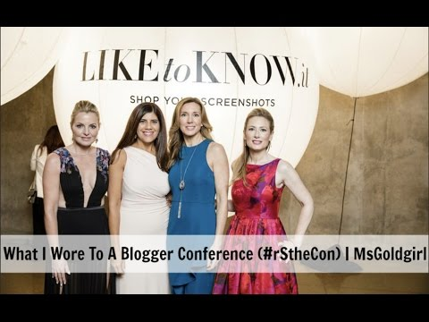 What I Wore To A Blogger Conference (#rStheCon) | MsGoldgirl