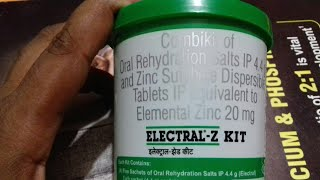 ELECTRAL - Z KIT COMBIKIT PACK | Diarrhoea | Dehydration | Treatment Full Hindi Reviews