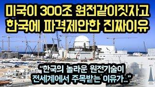 미국이 300조 원전 같이 짓자고 한국에 파격 제안한 진짜이유, 한국의 원전기술이 어떻길래? 이것만큼은 세계최고!