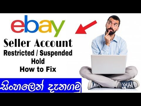 Ebay Seller Account / Restricted, Suspended Or Hold / How To Customer Support (සිංහලෙන්)