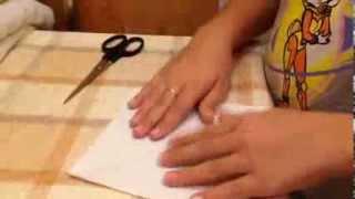 Как сделать бумажный мячик)))