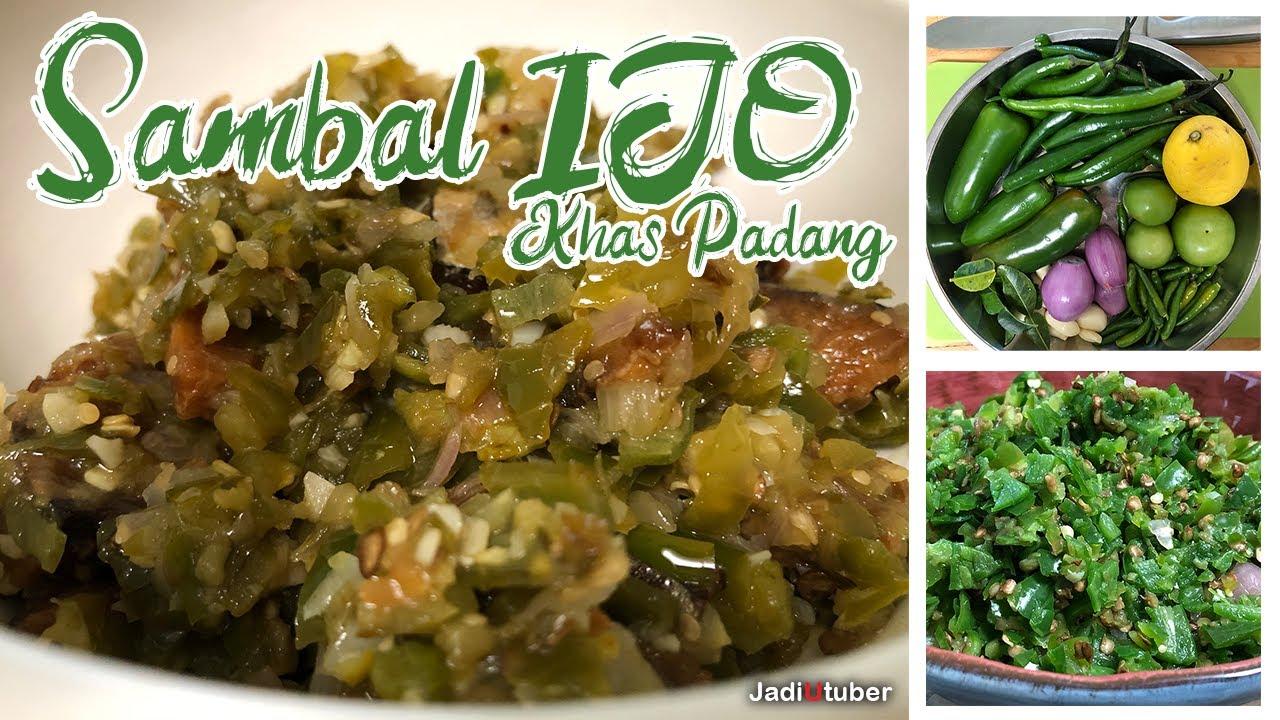 Resep Sambal Ijo / Sambel Hijau Khas Padang Resto |  Jadi Youtuber