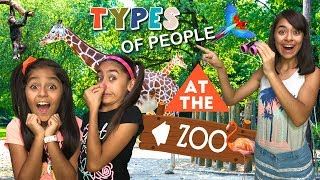 Types of People At The Zoo - Funny Skits // GEM Sisters