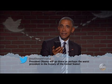 Watch President Obama Read a Mean Tweet From Donald Trump