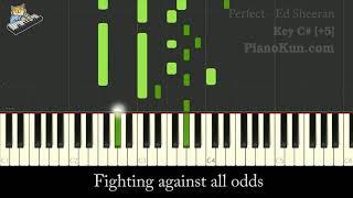 +5 Female Karaoke Ed Sheeran   Perfect Karaoke Higher Key Instrumental For Singer
