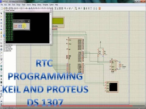 DS1307 Real time clock programming using Keil IDE and Proteus simulation