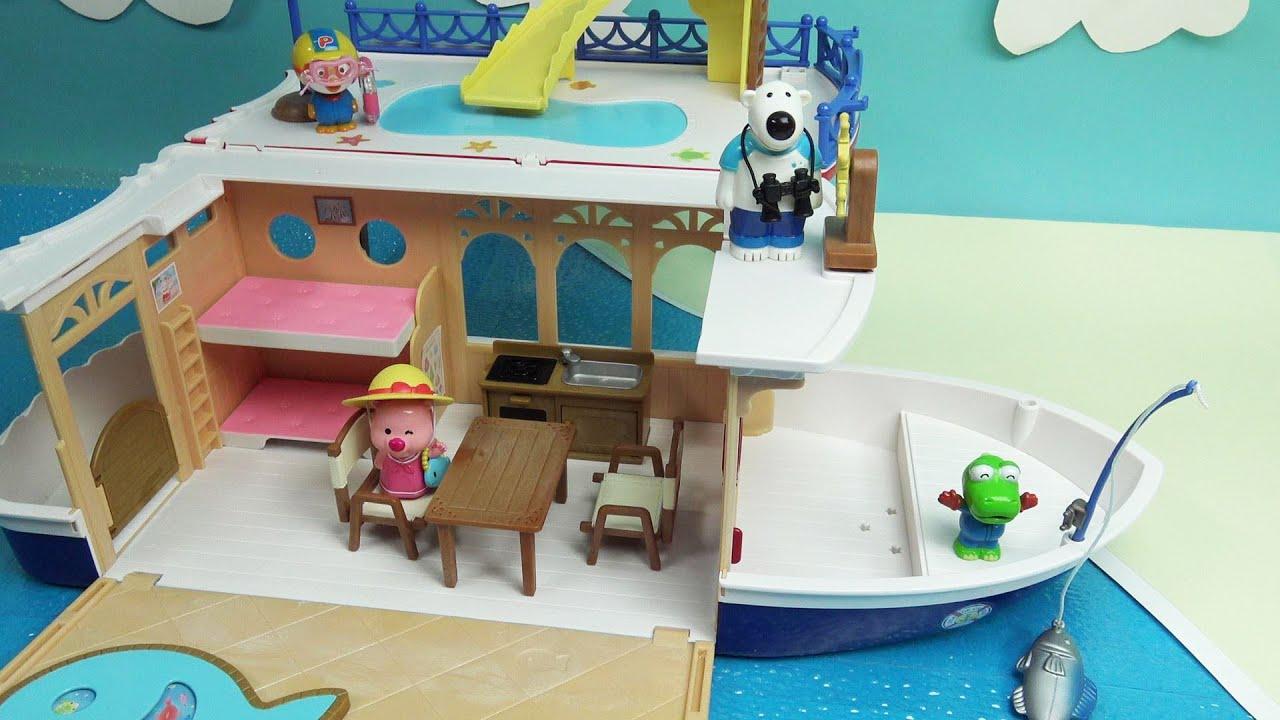 뽀로로 친구들의 실바니안 패밀리 즐거운 크루즈 여행 뽀로로 장난감 애니 Pororo Toy Video