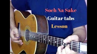 soch na sake guitar tabs lead lesson tutorial cover | Airlift