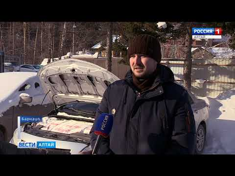 В Барнауле в сильные морозы стала популярна услуга отогрева автомобилей