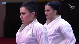 Karate 1 Dubai 2019. Final: Team Kata Female Iran vs. Italy
