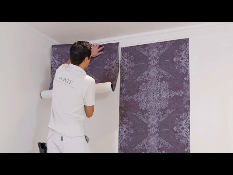 poser du papier peint intiss doovi. Black Bedroom Furniture Sets. Home Design Ideas