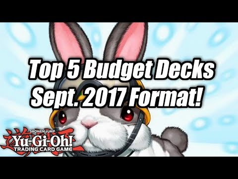 Yu-Gi-Oh! Top 5 Competitive Budget Decks for the September 2017 Format!