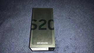 Samsung galaxy S 20 ultra 5G  Unboxing and first impressions