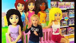 ВЛОГ идем в МИР ИГРУШЕК Лего френдс Сладка вата Хеллоу китти купили игрушки Милана участвует в шоу