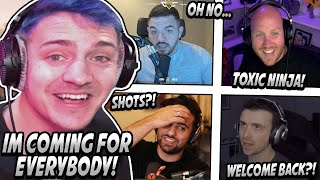 Ninja Comes Back MORE TOXIC Than EVER & Starts Roasting EVERY STREAMER In His Way! (HILARIOUS)