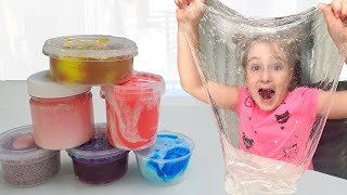 Annie and Tina makes slime