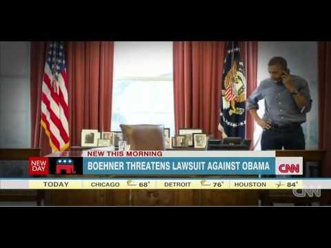 UNBELIEVABLE!!     Boehner considers suing Obama Amazing!!! - HD