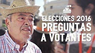 PREGUNTAS A VOTANTES   Elecciones 2016