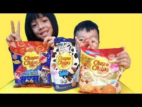 Bóc thử vị Kẹo Mút Chupa Chups #Kẹo Mút Chupa Chups Nhuộm Màu Lưỡi (Toy KingdomTV)