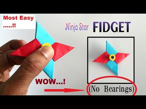 How to make A Paper Fidget Spinner WITHOUT BEARINGS (Step by Step).