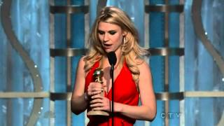 Claire Danes wins Best Actress in a TV Series Drama - Golden Globes 2013