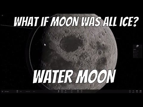 What If Moon Was Made of Water Ice?