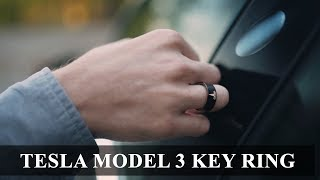 Tesla Key Ring - lock, unlock and start driving your model 3 with a finger tap