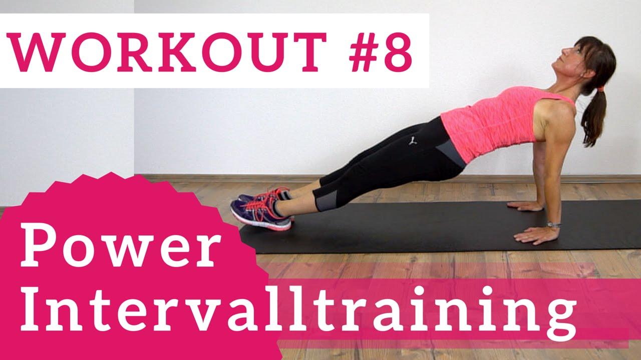 Workout# 8 - Power Intervalltraining | Ramona Franke