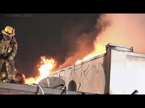 LAFD / Knockdown - Chinatown Commercial Fire / Major Emergency