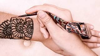 Gel Nails  💓 Mehndi Art 3D Design On Beautiful Wedding  Hands 2019  💝