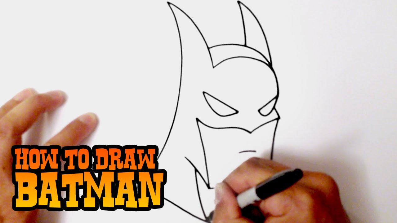 How To Draw Batman Step By Step Video Lesson Youtube