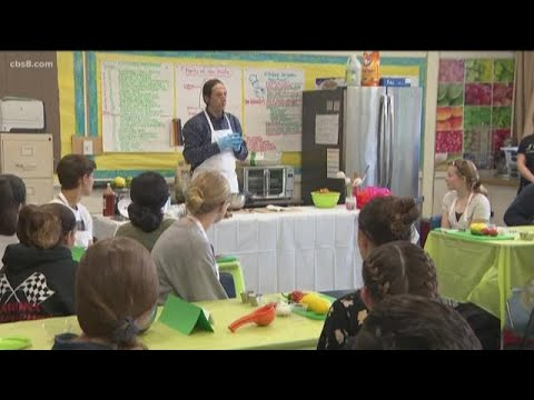 Shawn Styles cooks with future chefs at La Mesa Arts Academy