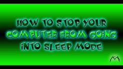 How To Stop Your Computer From Going Into Sleep Mode