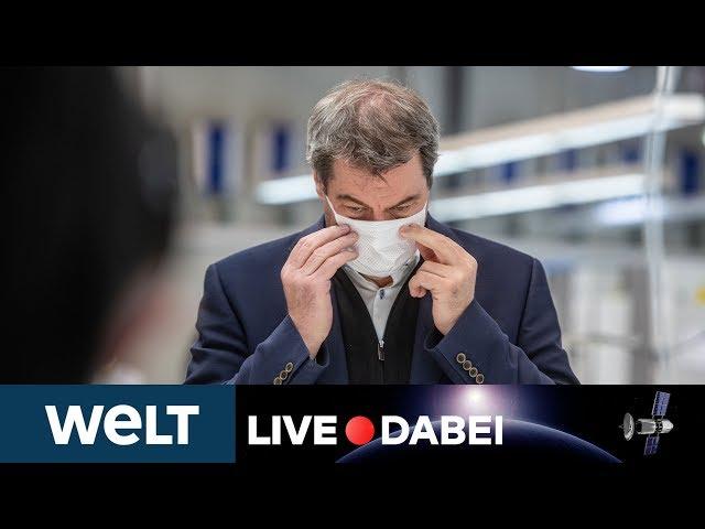 CORONAVIRUS IN BAYERN: Pressekonferenz von Ministerpräsident Markus Söder zur COVID-19-Lage