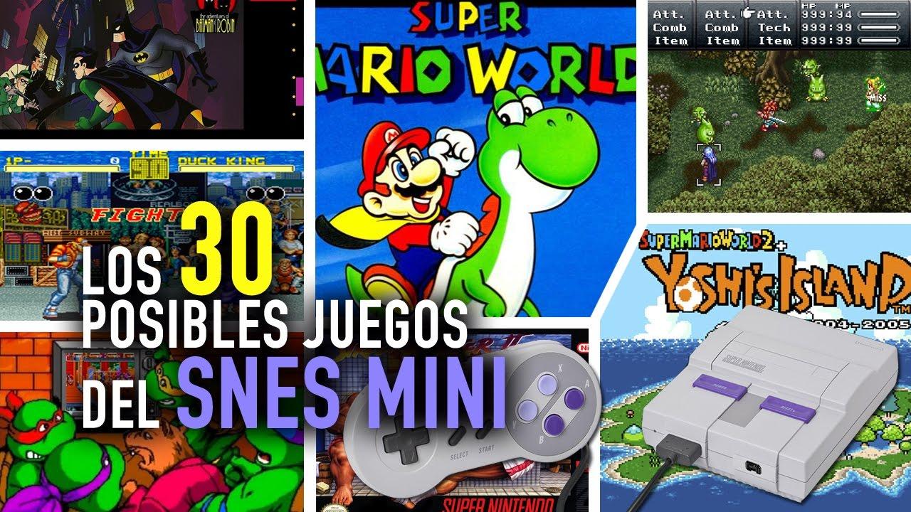 Snes Mini Los 30 Juegos Que Incluiria Youtube