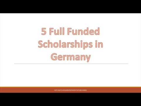 5 Full Funded Scholarships in Germany