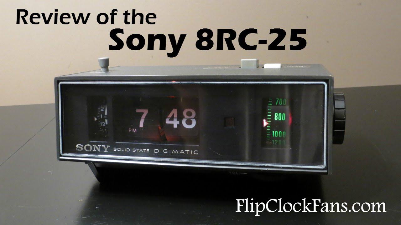 the sony 8rc 25 digimatic am clock radio flip clock fans forum. Black Bedroom Furniture Sets. Home Design Ideas