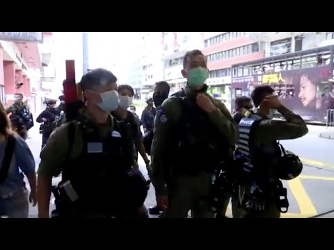 Hong Kong police arrest dozens in China national day protest