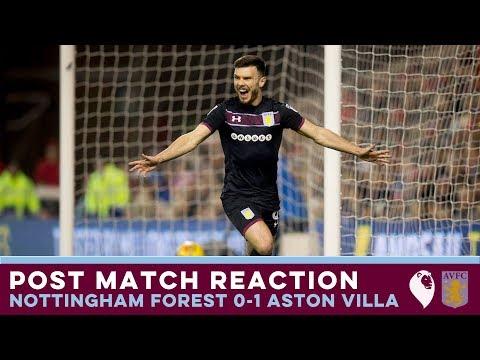 POST MATCH REACTION   Nottingham Forest 0-1 Aston Villa