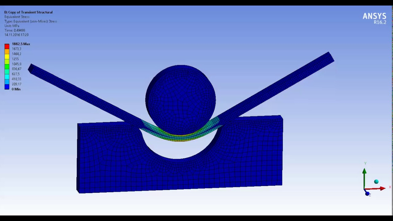 Ansys nonlinear analysis tutorial