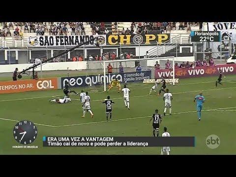 Corinthians perde e vê liderança ameaçada | SBT Brasil (30/10/17)