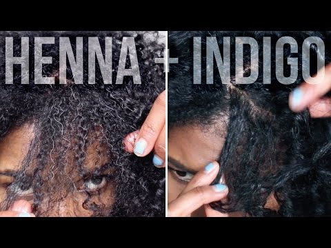 DIY   Dye Gray Hair Black Naturally - Henna + Indigo Step By Step